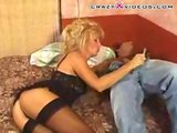 blonde milf in boots   (mature hot milf)