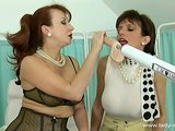 two mature women take a fucking machine out for..